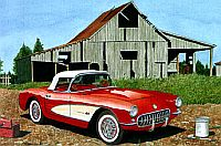 Out Of Darkness, 1957 Corvette Convertible, Item #DF25016